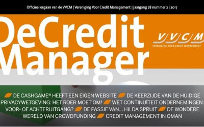 Interview in VVCM vakblad De Credit Manager