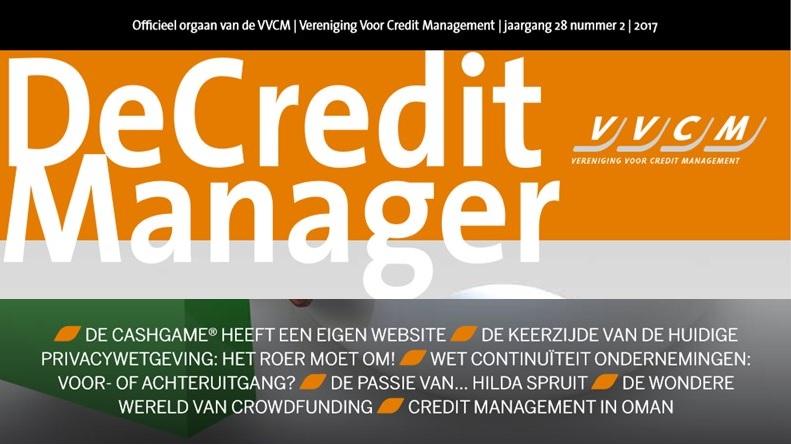 Interview in VVCM vakblad De Credit Manager