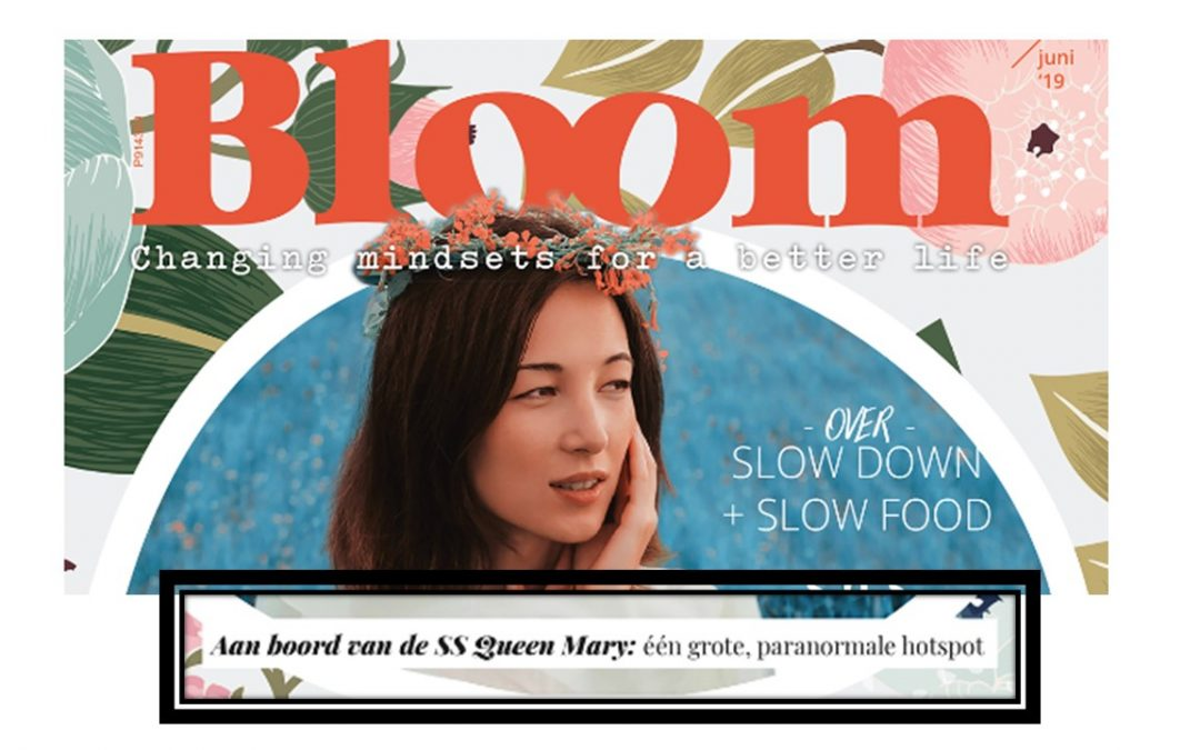 Aan boord van de SS Queen Mary – artikel in BLOOM Magazine