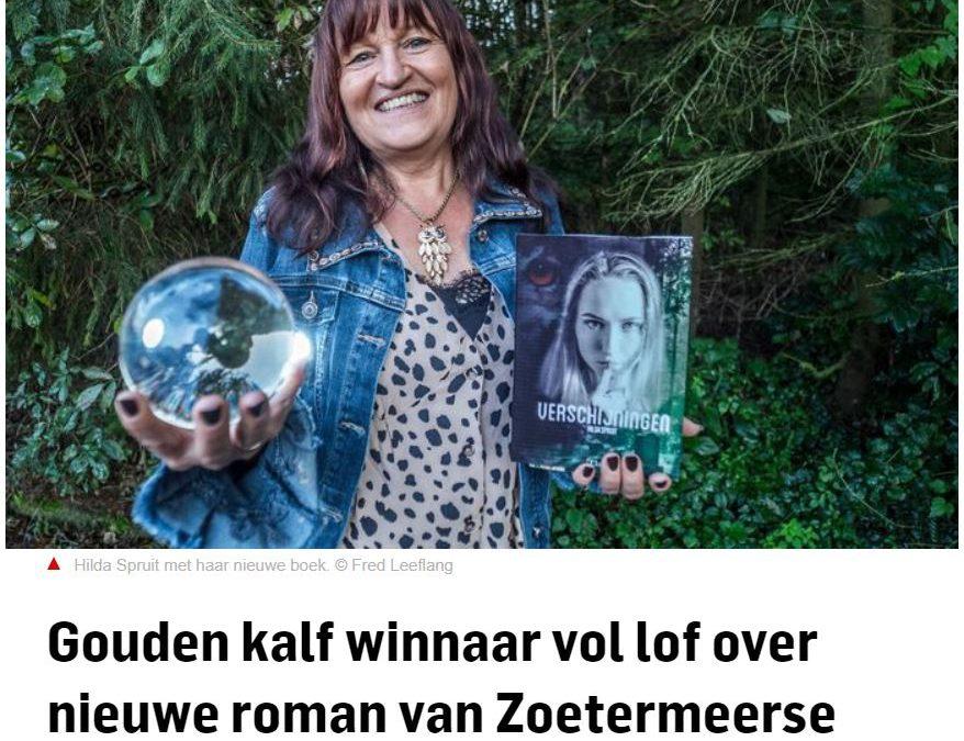 Gouden kalf winnaar vol lof over nieuwe roman van Zoetermeerse schrijfster Hilda Spruit / AD 24-09-2020